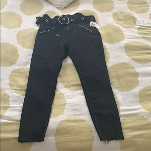 High rise skinny jeans black